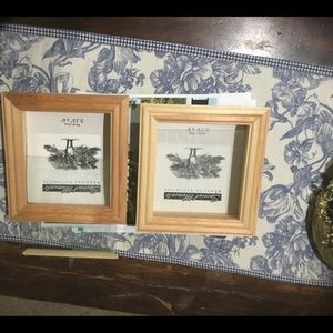 2 Wooden Memories Collection Frames